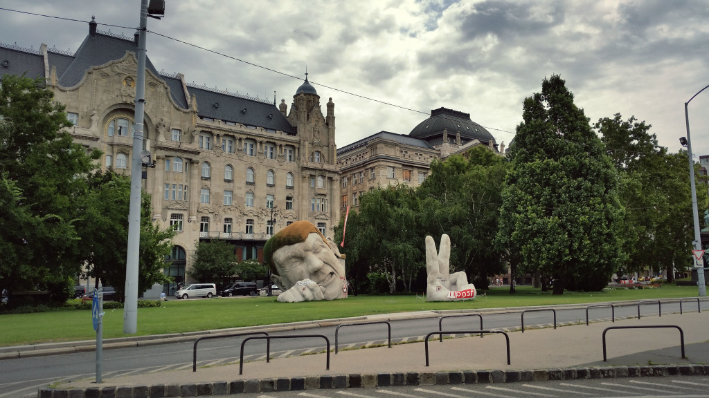 Budapest Head statue