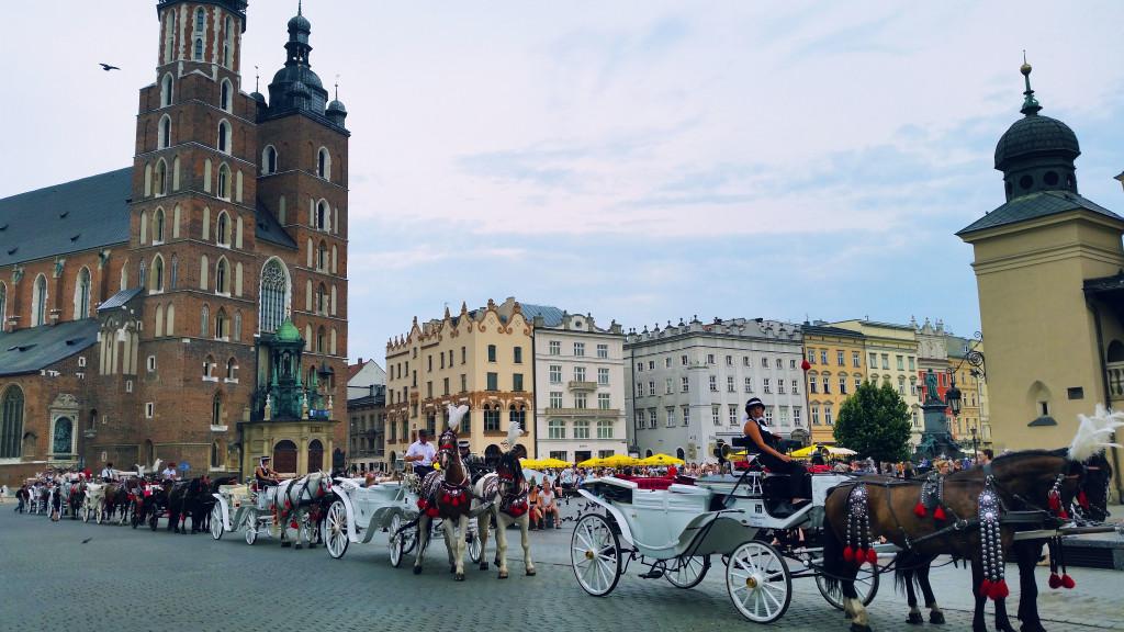 Krakow Poland Town Square