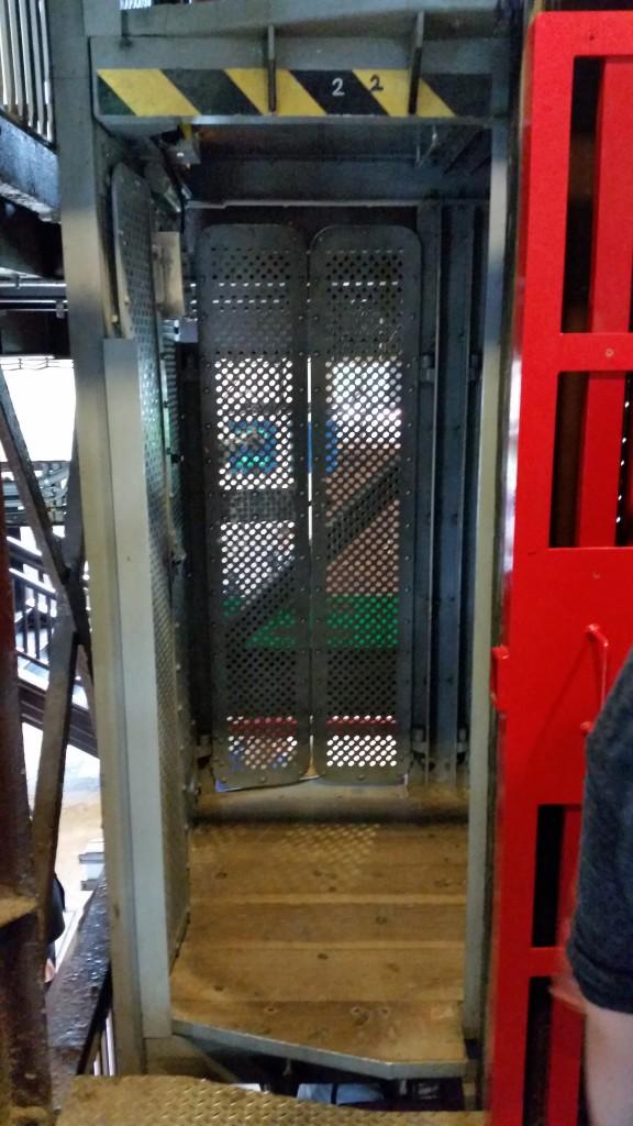 Krakow Salt mines elevator