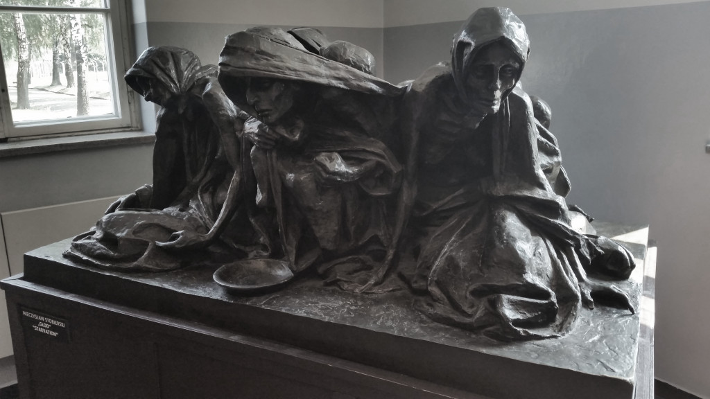 Auschwitz statue