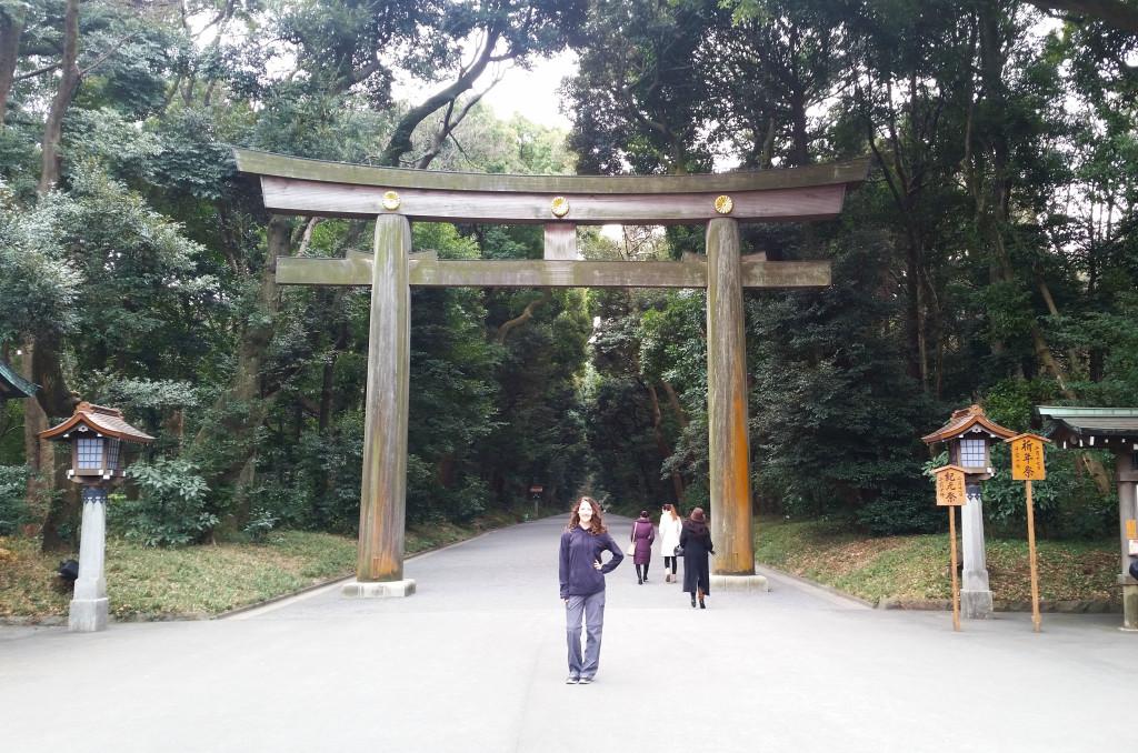 Tokyo temple park