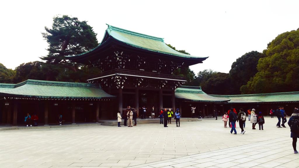 Tokyo temple park green