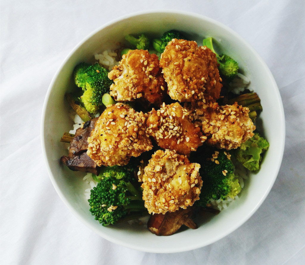 Vegan asian cauliflower wings