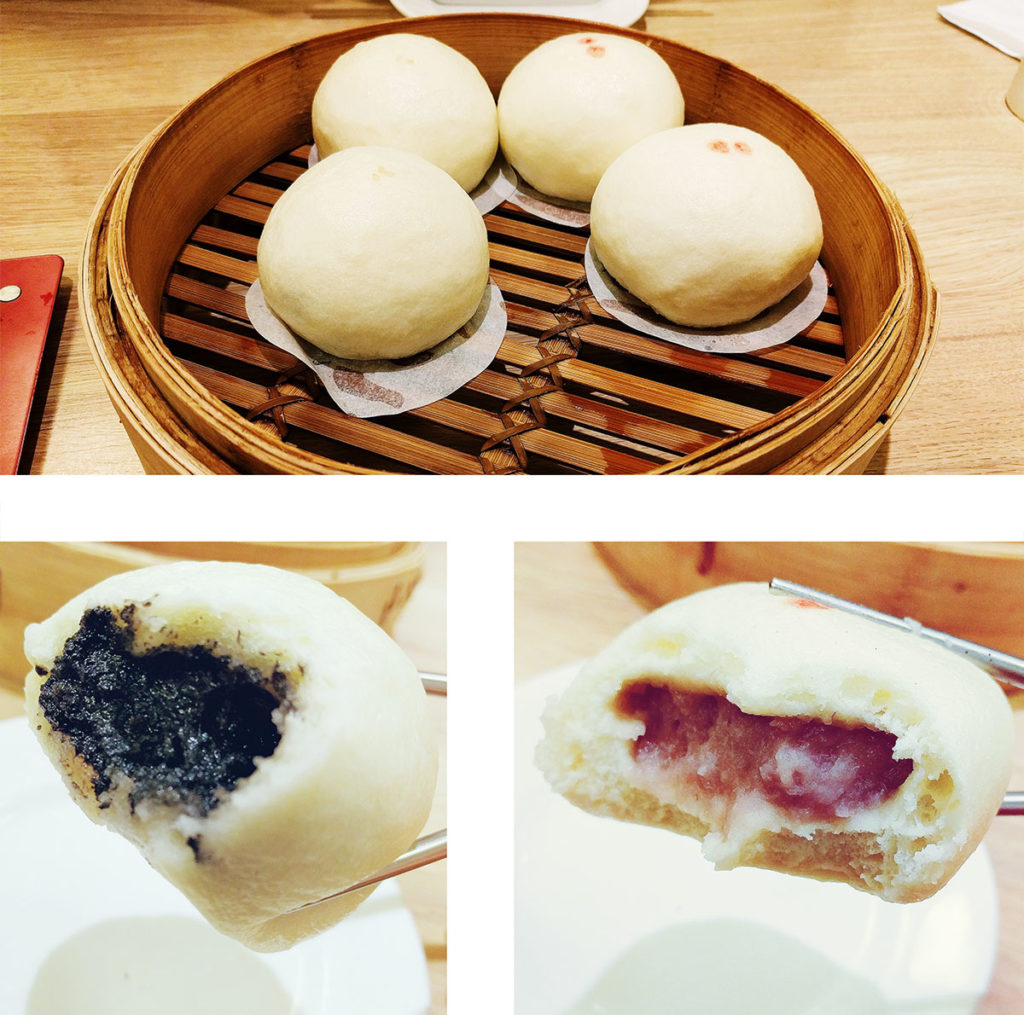 black sesame taro dumplings
