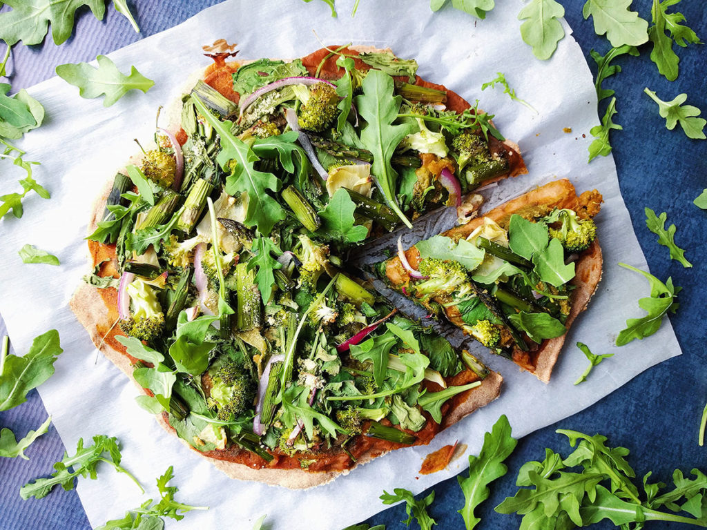 Vegan pizza | spartanlifeblog.com
