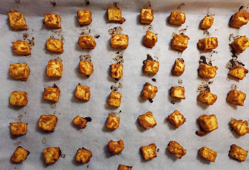 baked peanut tofu vegan