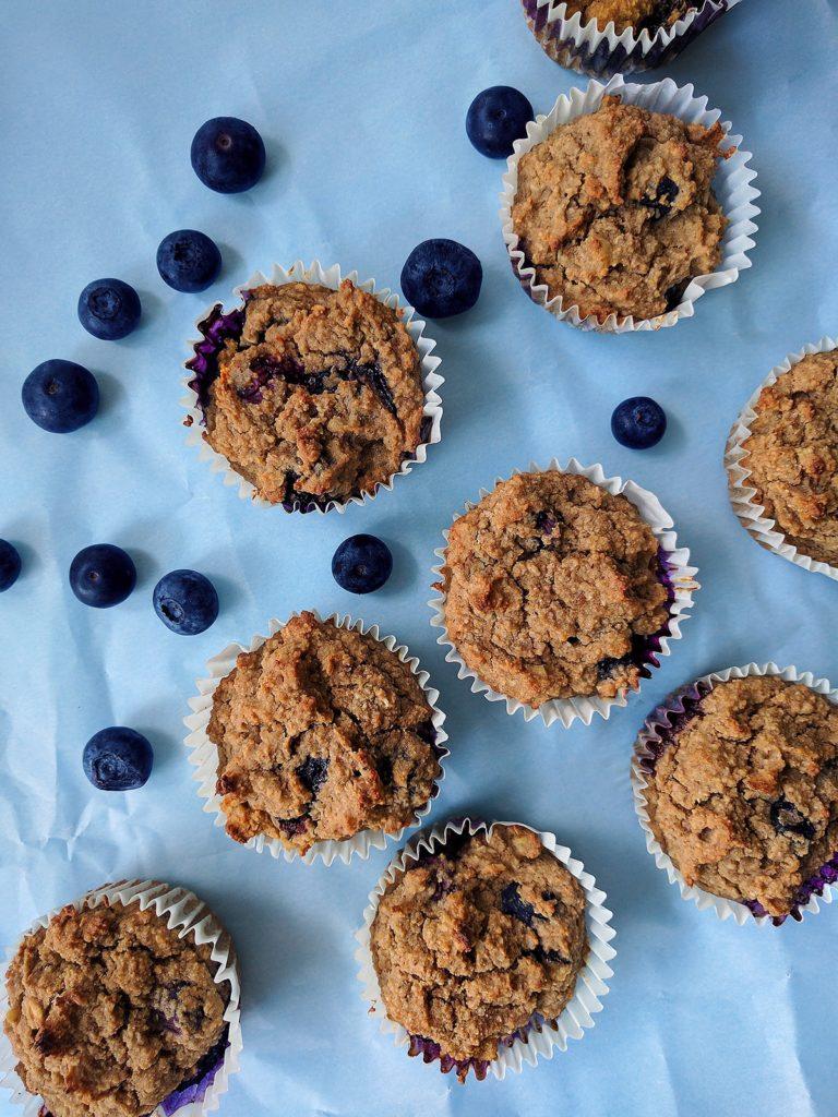 Sugar free lemon blueberry muffins   spartanlifeblog.com