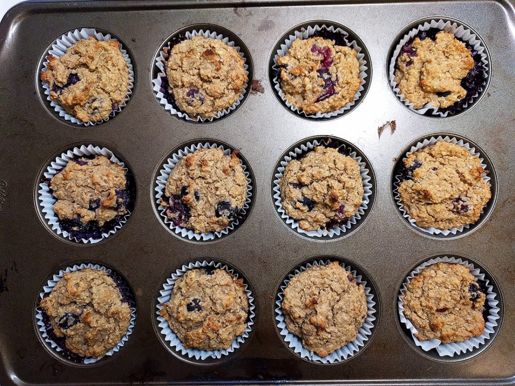 oil free bluberry muffins