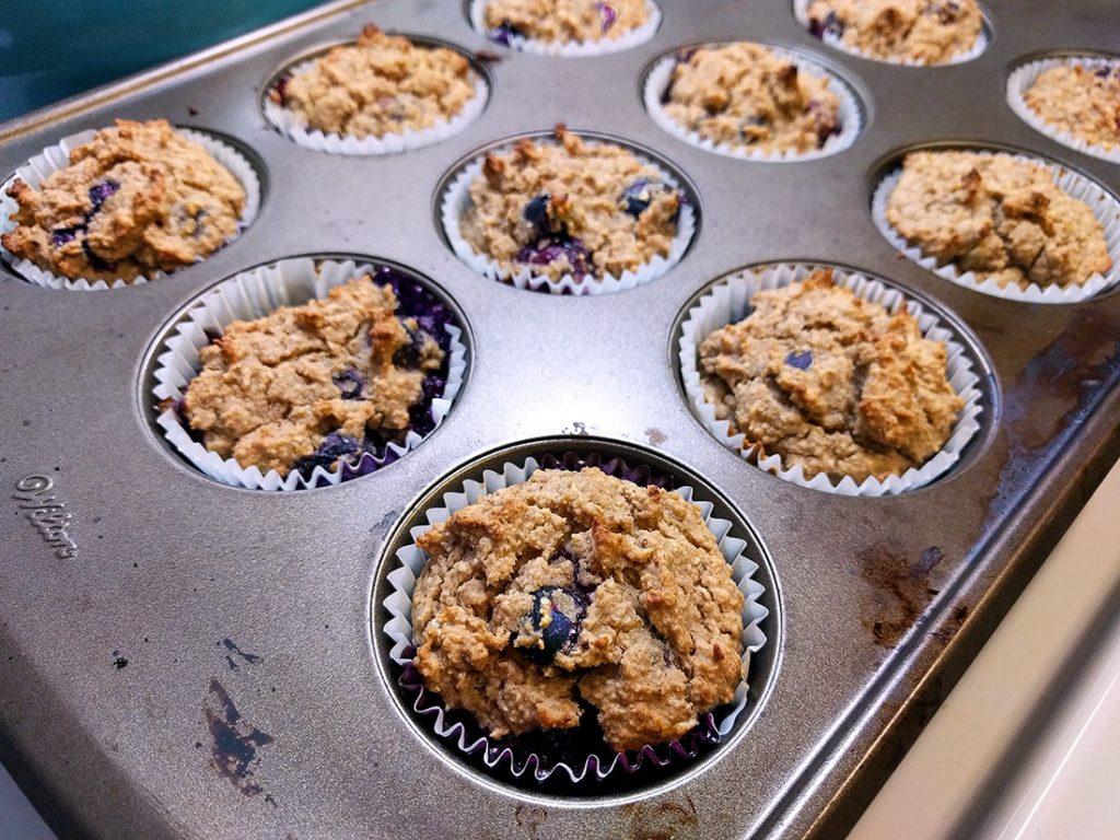 vegan lemon blueberry muffins