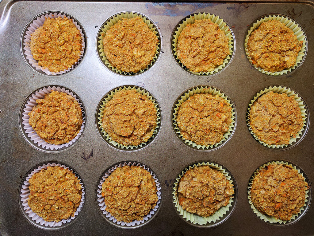 sugar free carrot muffins