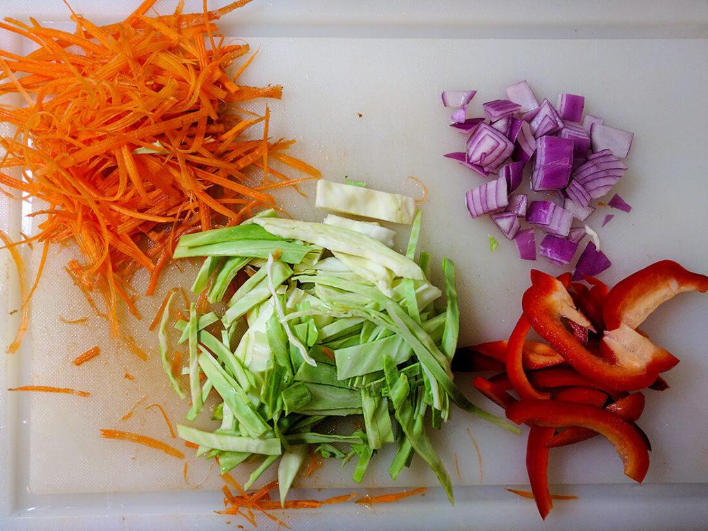 spaghetti squash pad thai vegetables