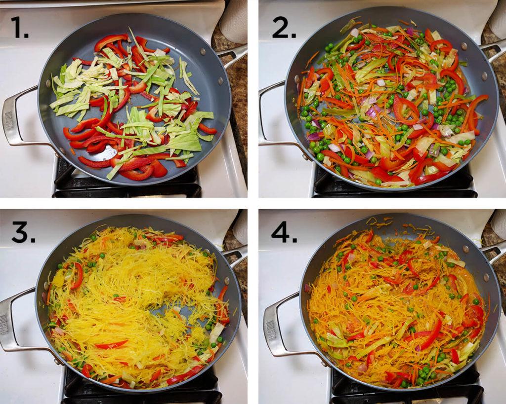 Spaghetti squash pad thai recipe