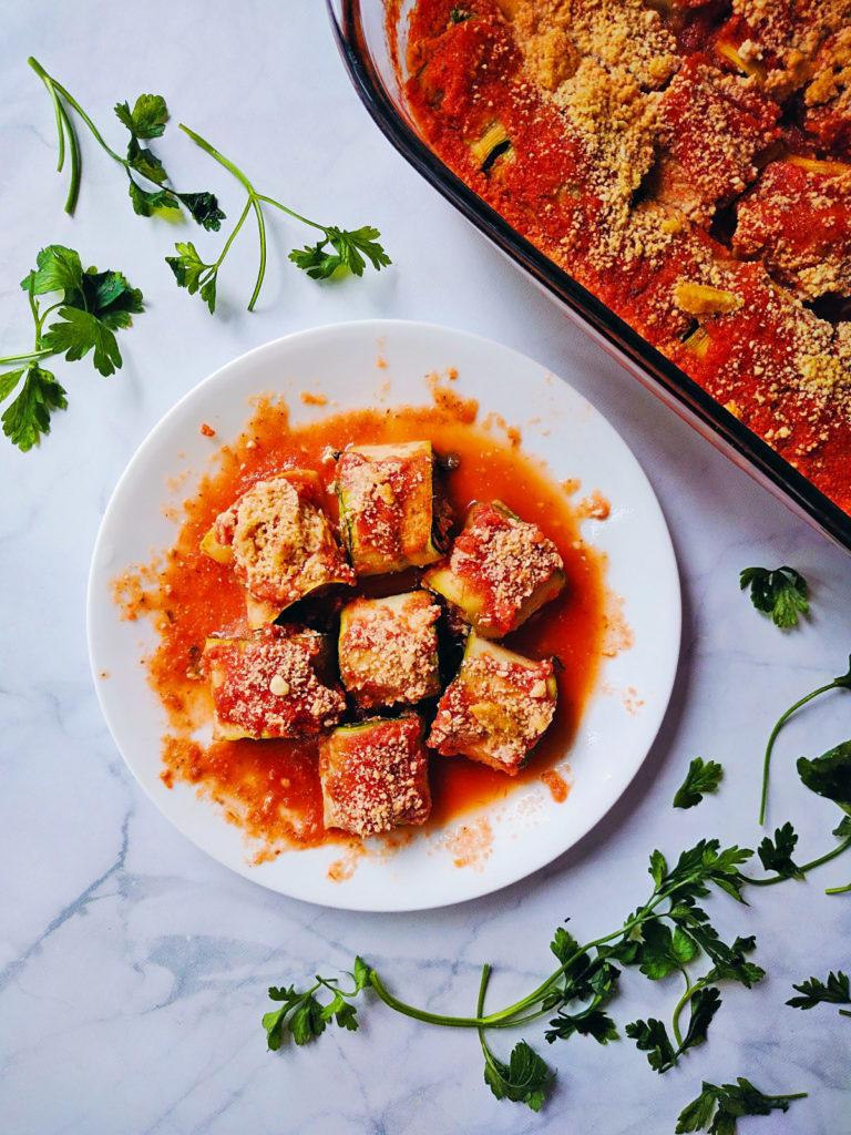 zucchini roll ups healthy