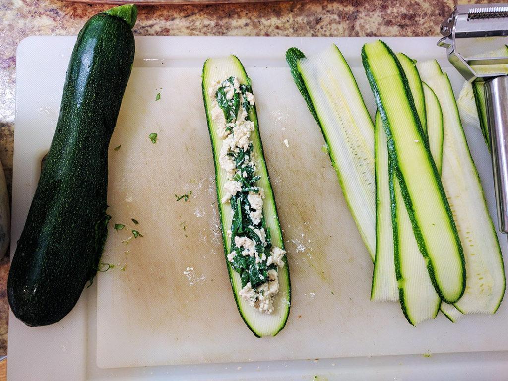zucchini roll ups vegan