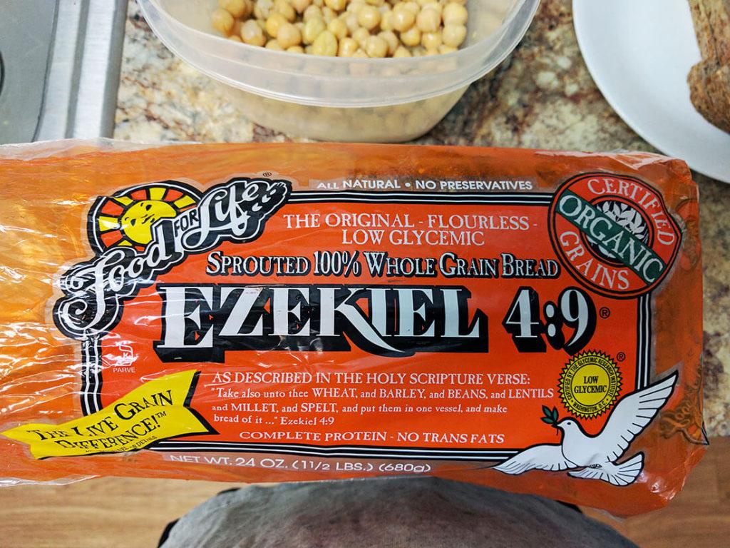Ezekiel bread sandwich