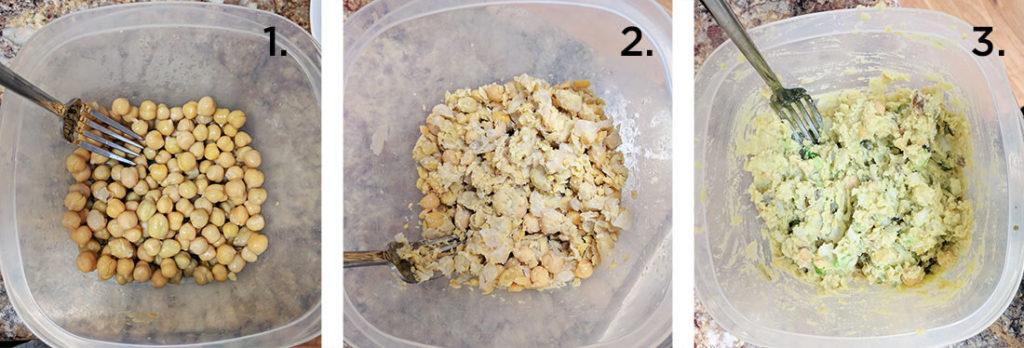 low fat chickpea salad sandwich vegan