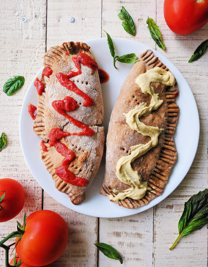 Vegan whole wheat calzones | spartanlifeblog.com