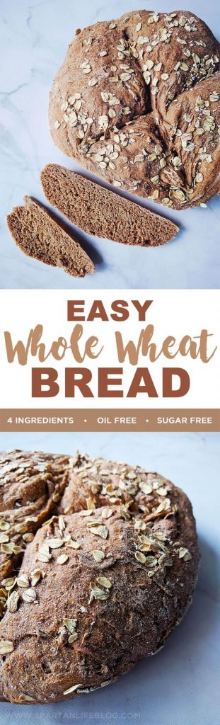 Easy Whole Wheat Bread | Healthy Recipes by spartanlifeblog.com