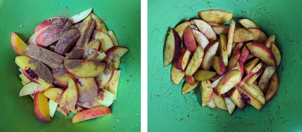 Sugar free peach crisp | spartanlifeblog.com