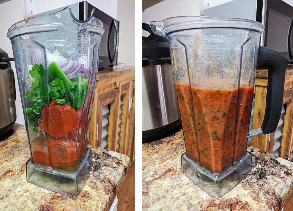 Easy roasted salsa homemade | spartanlifeblog.com