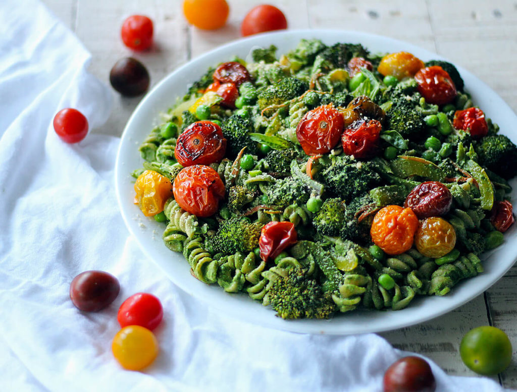 vegan superfood pesto pasta
