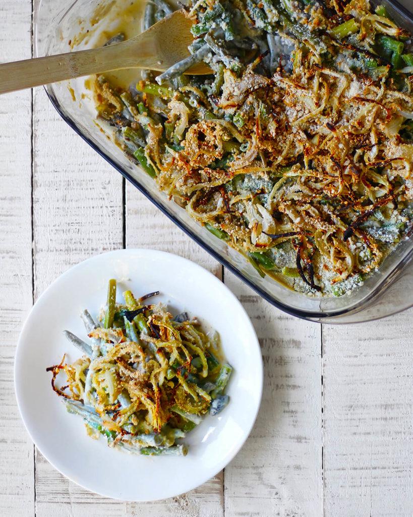 vegan green bean casserole | spartanlifeblog.com