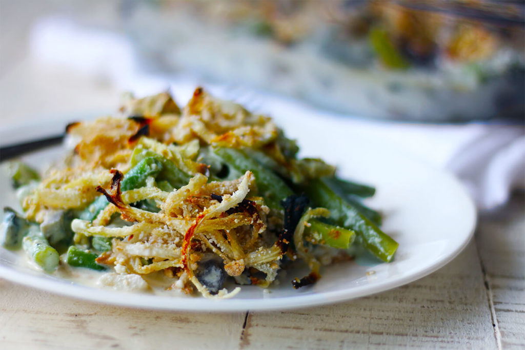 vegan green bean casserole healthy green bean casserole