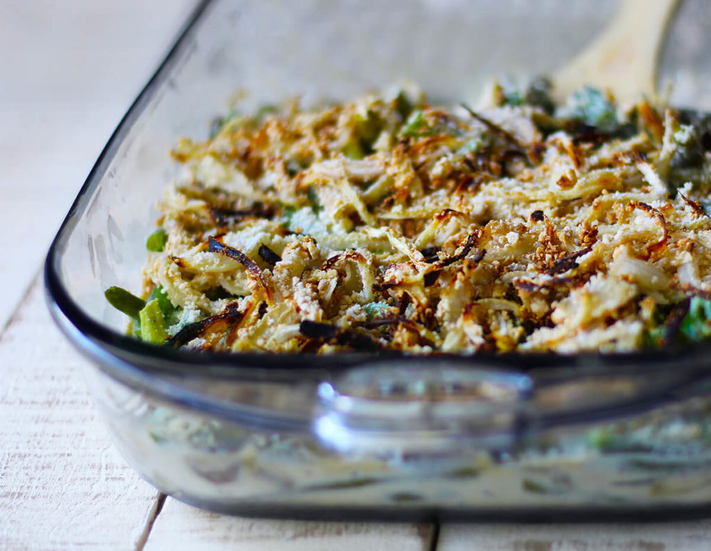 vegan green bean casserole oil free vegan