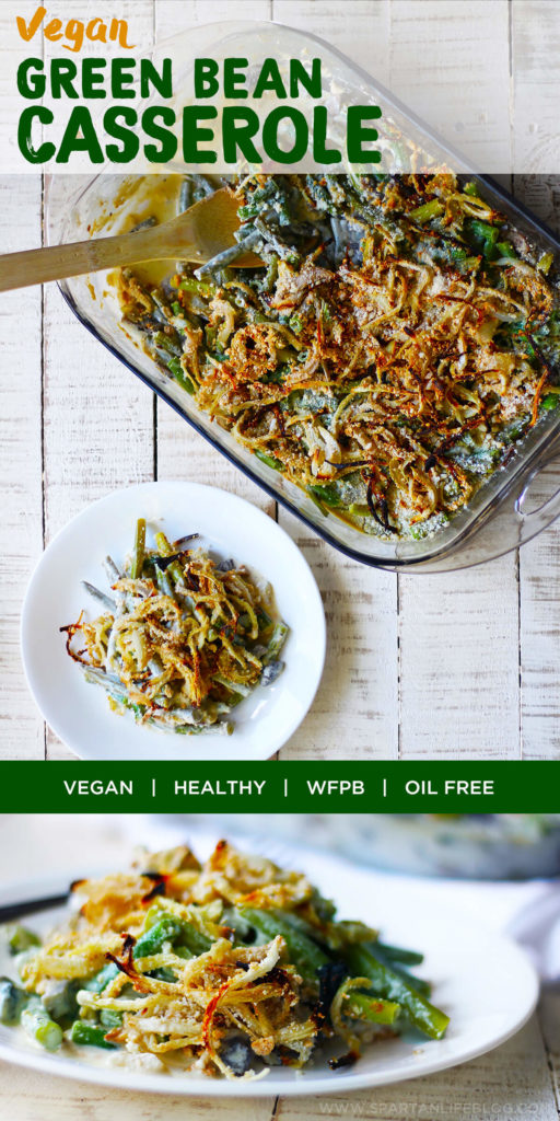 Vegan green bean casserole | by spartanlifeblog.com