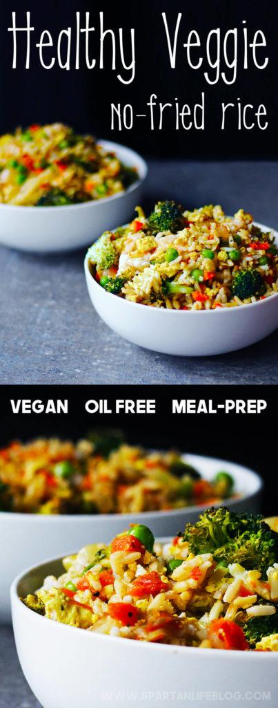 Healthy meal prep for veggie no-fried rice   spartanlifeblog.com