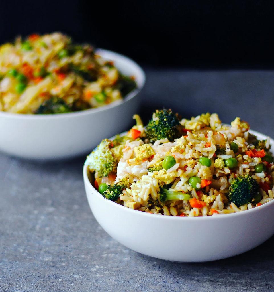 Bekend Veggie No-Fried Rice - A Healthy Vegan Meal Prep Recipe #RB42