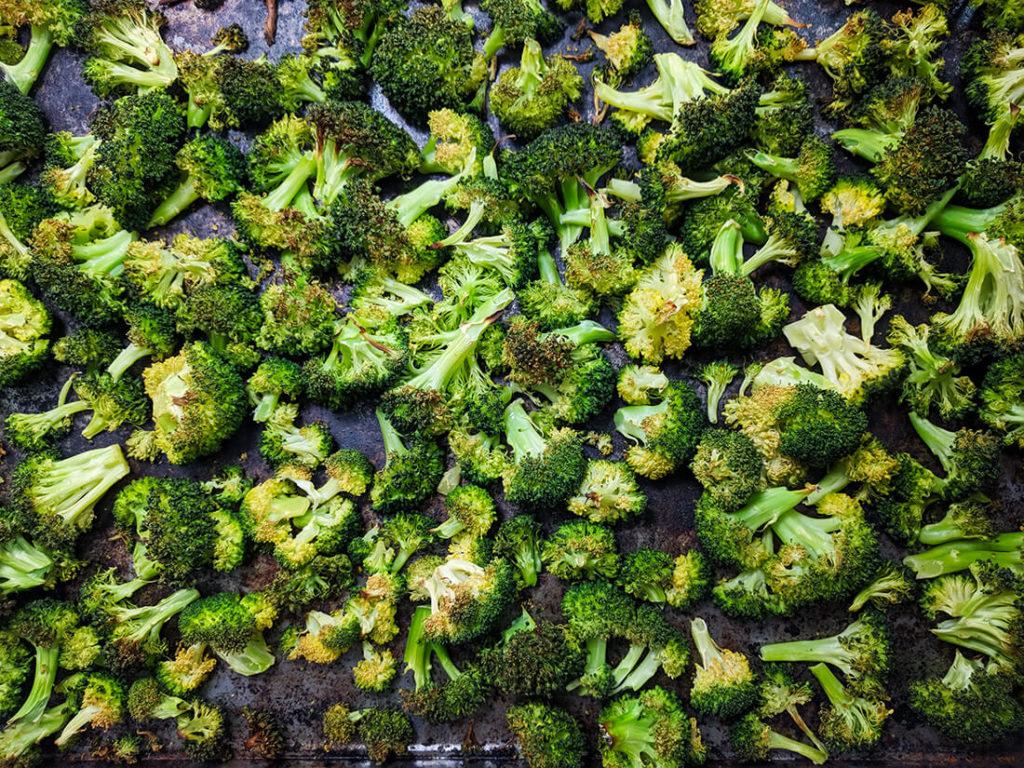 oil free roasted broccoli