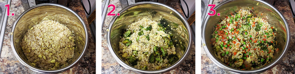 healthy veggie no-fried rice