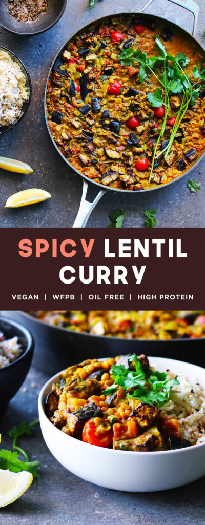 Healthy Spicy Lentil Curry Recipe | by spartanlifeblog.com