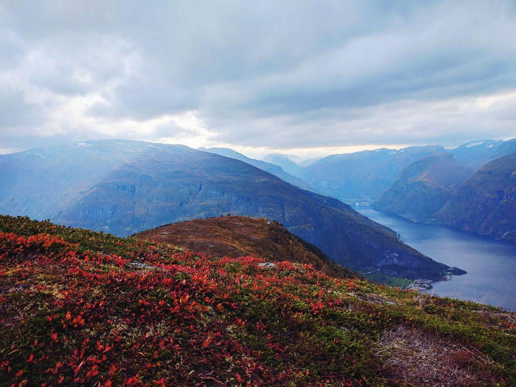 Aurland fjord hike