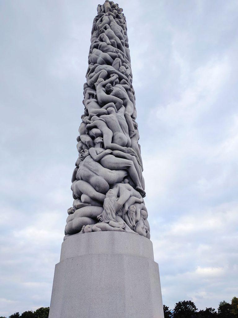 Vigeland statue park monolith