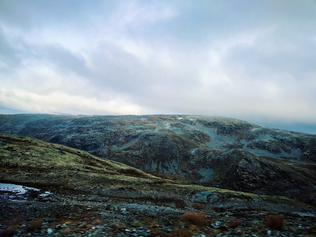 Aurland Norway snow road