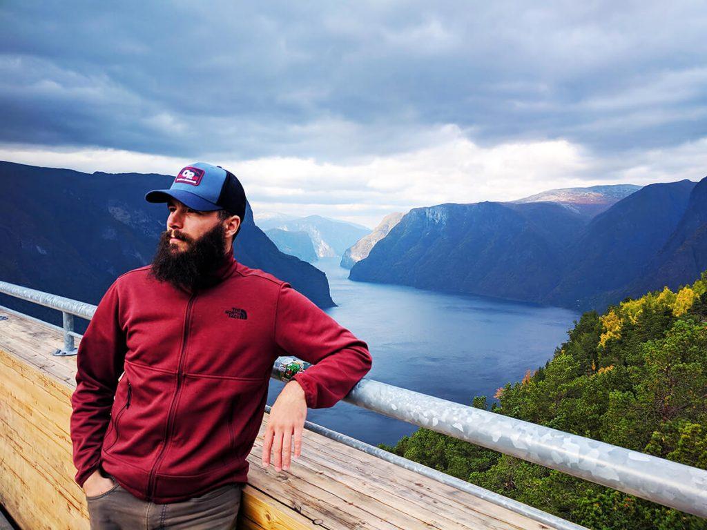 Aurland Fjord lookout