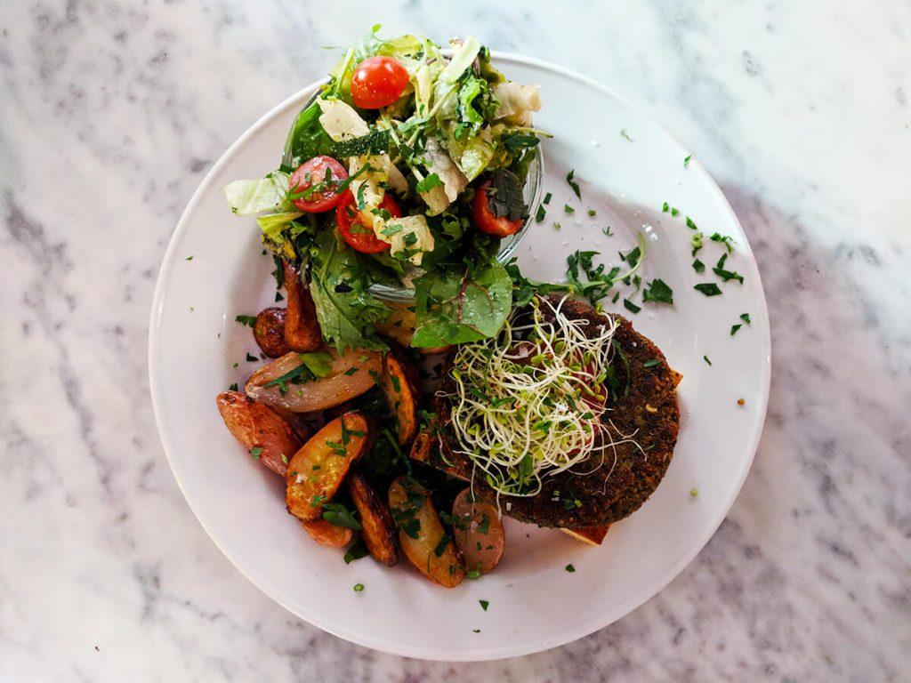 bergen vegan quinoa burger
