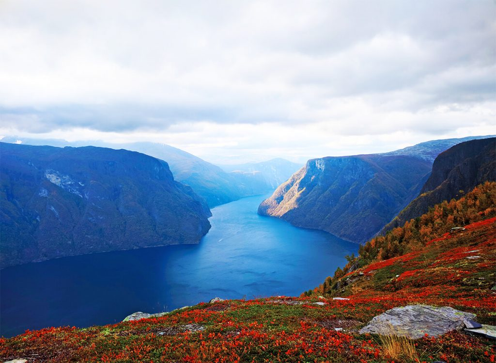 hike Norway fjords in fall