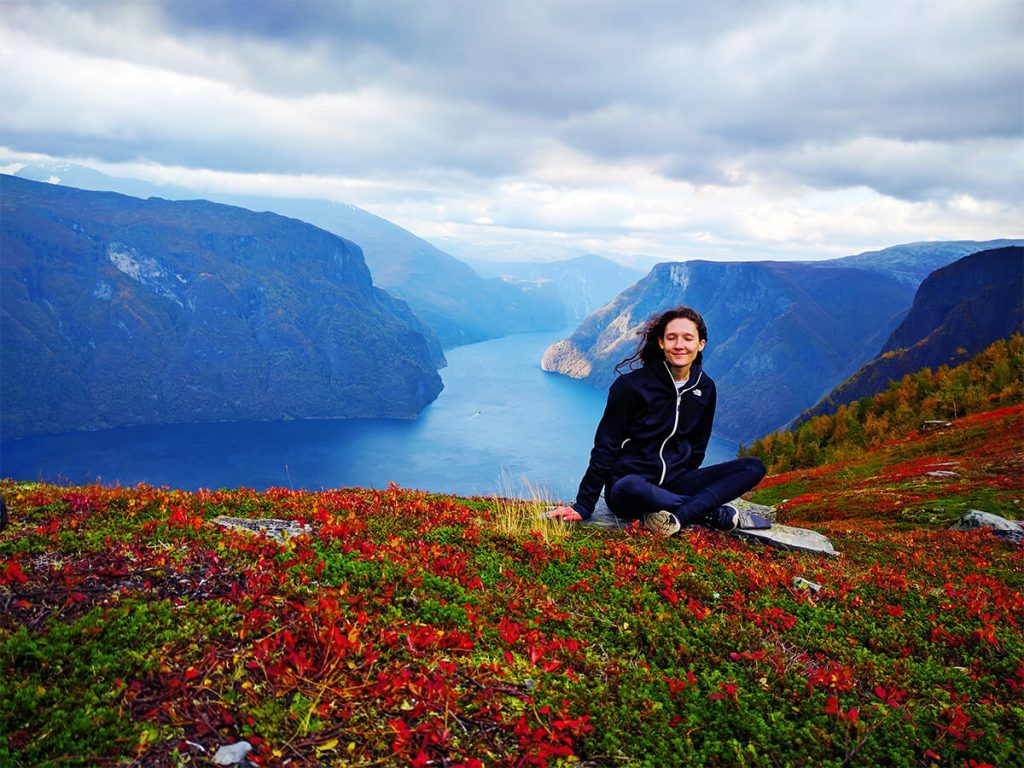 Fjord hiking happy