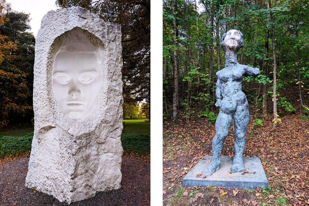 Face sculpture oslo ekebergparken sculpture park