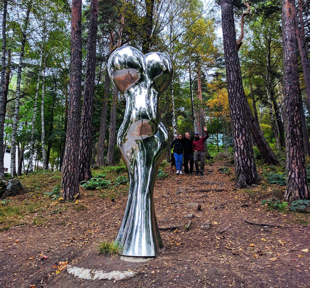 ekebergparken sculpture park silver lady