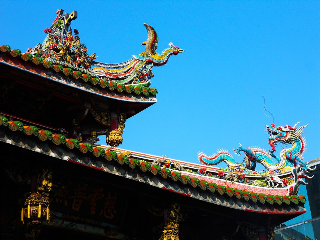 Lungshan Temple roof