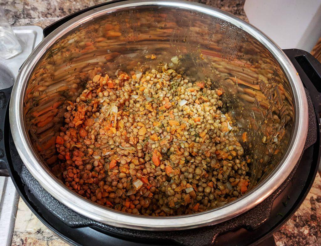savory lentils pressure cooker