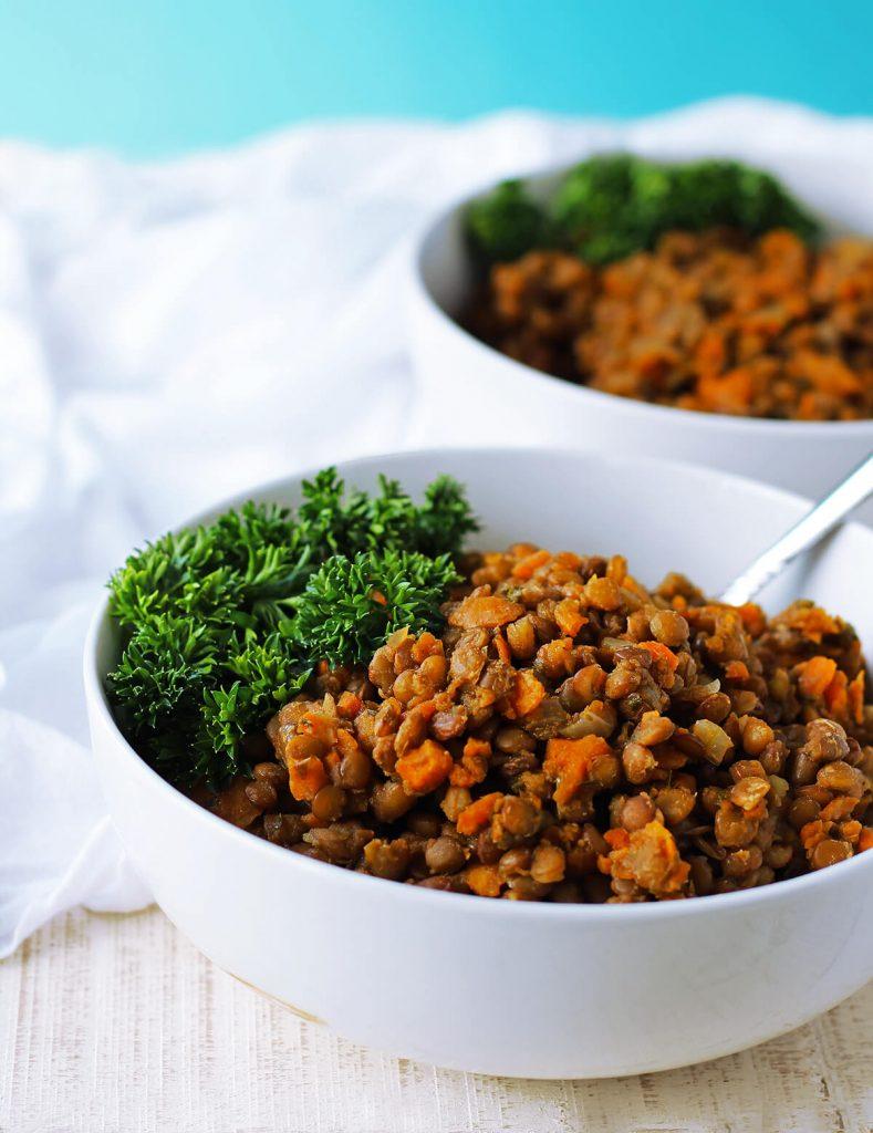 Healthy Savory Lentils | spartanlifeblog.com