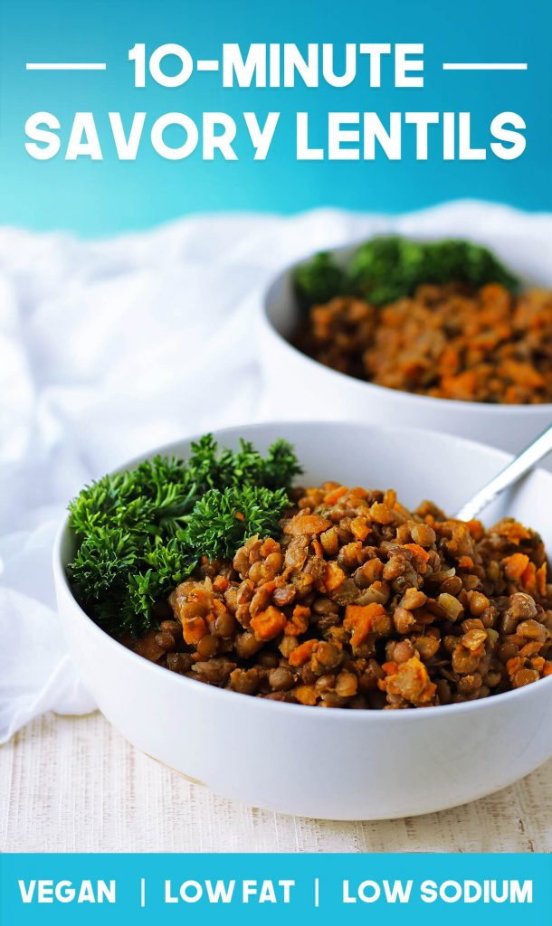 Healthy Savory Lentils Dinner Recipe | spartanlifeblog.com