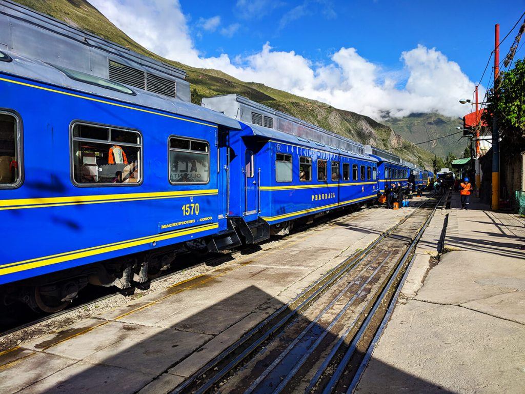 train to Aguas Calientes