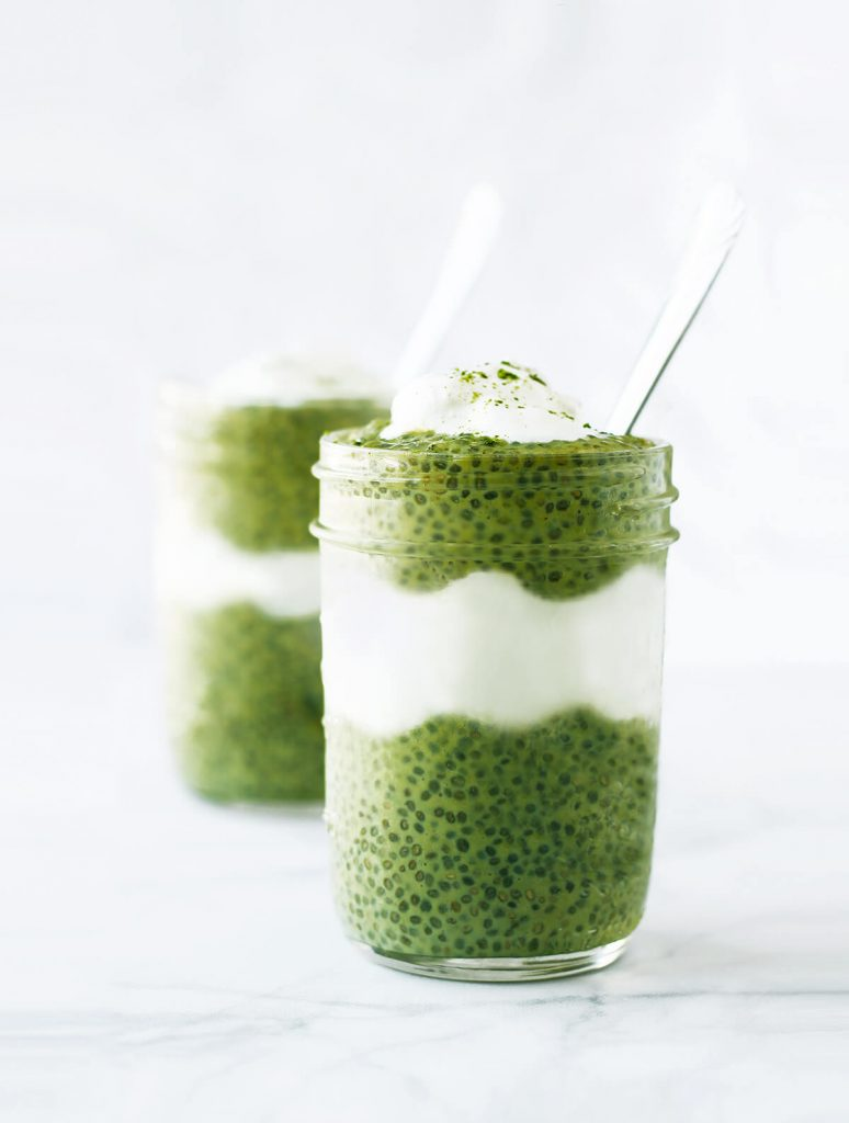 Almond Matcha Chia Seed Pudding | spartanlifeblog.com