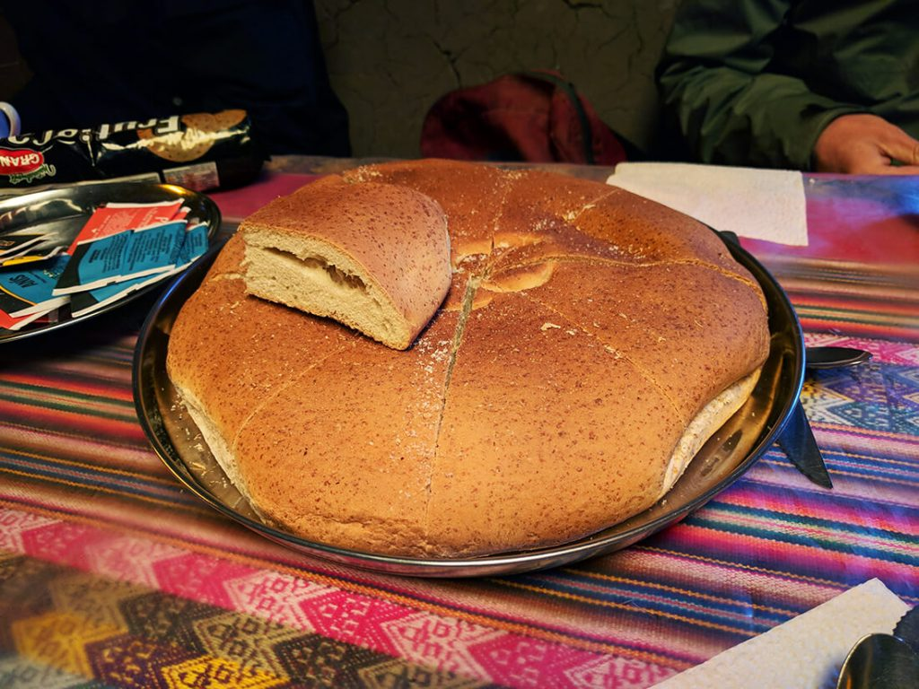 peru rainbow mountians farm bread